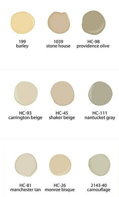 Neutral Benjamin Moore Paint Colors