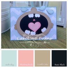 Carolina Evans - Stampin' Up! Demonstrator, Melbourne Australia: Baby Punch Art Card - Creative Challenge #punchitup
