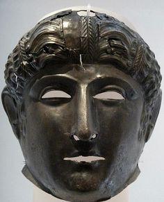 Bronze Roman Cavalry mask Newstead