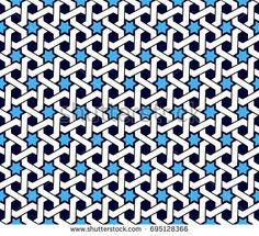 Vector pattern in arabic ethnic style