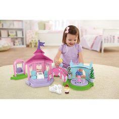 Fisher-Price Little People Disney Princess Garden Party Playset - Walmart.com