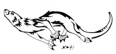 Otter Tattoo - 1 by Fleech-Hunter.deviantart.com on @DeviantArt