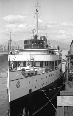 "[The ship ""Princess Joan"" at Pier D] - City of Vancouver Archives"