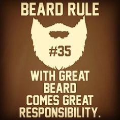 "Beard rule no. 35: ""With great beard comes great responsibility."" There is no denying #beard #beards #bearded #beardman #fullbeard #men #beardlife #beardgang #saturday #beardedman #life #instapic #picoftheday #beardsofinstagram #monday #picture #fun #quote #fitfamdk #fitness #bodybuilding #cycling #crossfit #endurance #boxing #running #mma #beardgrowth #beardrules #amazing by the_beard_journey"