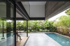 Nice composition and use of different materials at the SB House.\