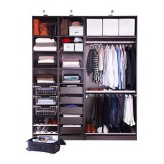PAX Wardrobe frame IKEA Sized for KOMPLEMENT interior organizers. Adjustable feet for high stability.