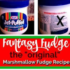 Yes, the original Fantasy Fudge recipe! Marshmallow fudge which is the Christmas tradition in our house. No imposters here for this creamy, melt in your mouth chocolate fudge recipe. New Year's Desserts, Christmas Desserts Easy, Cute Desserts, Dessert Recipes, Baking Desserts, Simple Christmas, Christmas Recipes, Dessert Ideas, Holiday Recipes