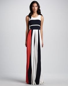 French Connection   Medina Striped Maxi Dress - CUSP