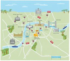 Places Of Interest In London Map Major Tourist Attractions Maps New