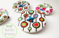 tutorial button brooch crafting
