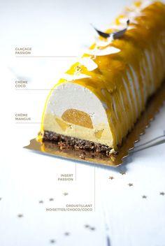 Dessert de Noël vegan : bûche passion coco http://www.leaf-blog.com #GoGreenChristmas #GoGreenProject