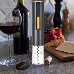 Electric Automatic Cordless Red Wine Corkscrew Bottle Opener  Foil Cutter USA >>> Check this awesome product by going to the link at the image.(This is an Amazon affiliate link and I receive a commission for the sales)
