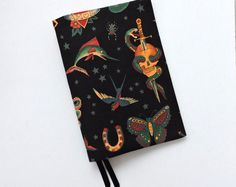 A5 Hobonichi Cover tattoo print. FREE SHIPPING Leuchtturm 1917 cover. Planner cover. A5 Bullet journal cover. A5 Book cover
