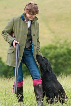 The Moorcot Ladies Tweed Shooting Jacket for when I need to shoot something :D