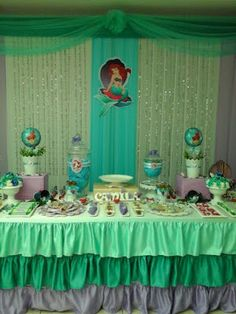puppys first birthday Little Mermaid Birthday, Little Mermaid Parties, The Little Mermaid, Ariel, Baby Shawer, Diy Backdrop, Backdrops For Parties, Christmas 2016, Party Themes