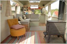 The Majestic Bus - Converted Bedford Panorama Bus. I wish ours could be this open! Gorgeous bus conversion :) The T.V programe that showed this conversion was just amazing.....and it looks so lovely!!