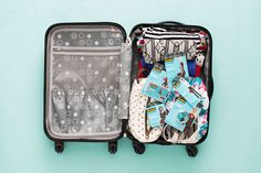 Save this to get tips on how to pack the perfect carry-on suitcase for your holiday travels.