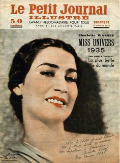 Miss Egypt and universe,  1935 ( Charlotte Wassef)