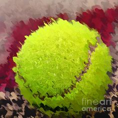 #TENNIS #BALL #ABSTRACT by #Kaye #Menner #Photography Quality Prints Cards Products at: http://kaye-menner.pixels.com/featured/tennis-ball-abstract-by-kaye-menner-kaye-menner.html