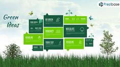 Green thinking eco nature ideas prezi presentation template