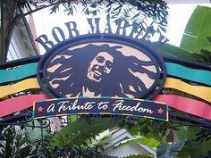Entrance to Bob Marley restaurant, at Universal City Walk, Orlando, FL