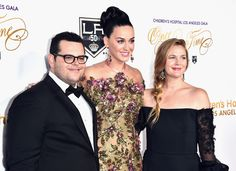 """Drew Barrymore Photos Photos - (L-R) Host Josh Gad, singer Katy Perry and actress Drew Barrymore attend the 2016 Children's Hospital Los Angeles """"Once Upon a Time"""" Gala at L.A. Live Event Deck on October 15, 2016 in Los Angeles, California. - 2016 Children's Hospital Los Angeles 'Once Upon a Time' Gala - Arrivals"""