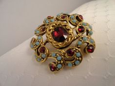 Vintage Goldette Victorian Revival Brooch with by BBGIMAGINATIONS