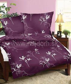 Bavlnené obliečky - Ľalia na fialovom M88