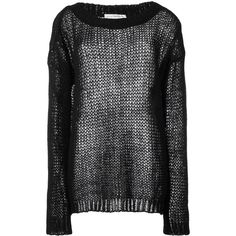 Faith Connexion Punk jumper ($590) ❤ liked on Polyvore featuring tops, sweaters, black, punk rock sweaters, mohair sweater, punk sweater, faith connexion tops and jumper top