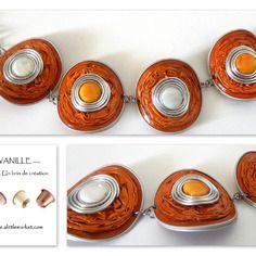 Bracelet orange en capsules nespresso                                                                                                                                                      Plus
