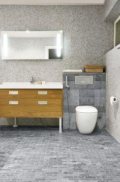 Soapstone tiles in bathroom