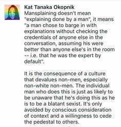 #mansplaining #feminism