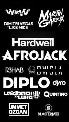 Dj's Logo  Hardwell Dimitri Vegas & Like Mike  Electronic music  Music electronica