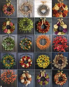 Hi friends! Yes I know, I'm getting a little ahead of myself with these fall wreaths. The heatwave here has died down and there is that crisp in the air in the morning that reminds me of what's to come. Fall is my absolute favorite season, how about you? Autumn Wreaths For Front Door, Wreaths For Sale, Xmas Wreaths, Deco Mesh Wreaths, Christmas Decorations, Wreath Crafts, Diy Wreath, Fall Crafts, Holiday Crafts