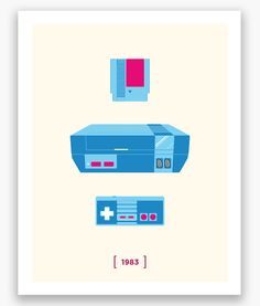 Brock D. has captured the evolution of Nintendo's home console in a series of minimalist prints. I forgot what a short lifespan the Gamecube had.