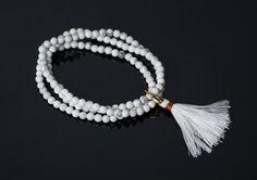 """Náramok """"spirit"""" z magnezitu Tassel Necklace, Beaded Bracelets, Tassels, Jewelry, Jewlery, Jewerly, Pearl Bracelets, Schmuck, Jewels"""