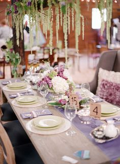 beautiful lavender table setting - botanical wedding inspiration!