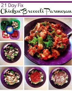 21 Day Fix Chicken Broccoli Parmesan *Printed