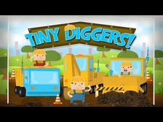 Excavator for Children,Game Backhoe Construction Tiny Diggers Truck and ...