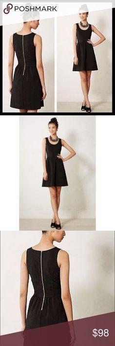 HD in Paris Anthropologie Black Cocktail Dress M Size medium. Back zip. 90% polyester, 5% metallic thread, 5% spandex. Dry clean. Anthropologie Dresses