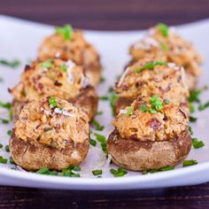 Amazing for the Thanksgiving Buffet! Bacon and Cream Cheese Stuffed Mushrooms via Jo Cooks   #thanksgiving #appetizers