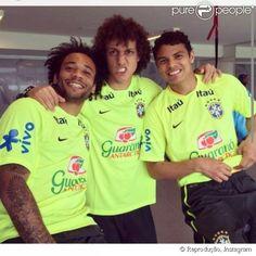 Marcelo, David Luiz e Thiago Silva
