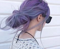 I L-O-V-E this color. #violet #hair