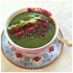 Pullantuoksuinen koti: Vihersmoothie -kulho - välipäivien virkistys. Greensmoothie -bowl
