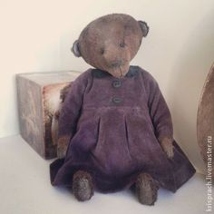 Monik - коричневый,мишка ручной работы,мишка девочка,мишка тедди,авторская выкройка
