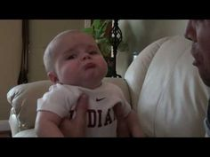 ADORABLE!!!!! Mean Daddy - Hilarious Baby Video! - YouTube