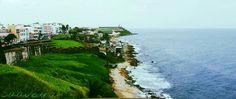 Panoramic photography old san juan Puerto Rico beach sky high *Saavedra Photography*
