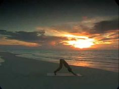 Shiva Rea Yoga Sun Salutation. Classic on the beach. No word guides. So watch first or take the first few on pause to check your moves.