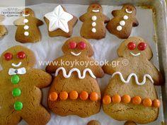 ΧΡΙΣΤΟΥΓΕΝΝΙΑΤΙΚΑ ΤΖΙΝΤΖΕΡΜΠΡΕΝΤ(Gingerbread) ΜΠΙΣΚΟΤΑ Gingerbread Cookies, Christmas Cookies, Christmas Diy, Easy Cooking, Food And Drink, Desserts, Lovers, Foods, Gingerbread Cupcakes