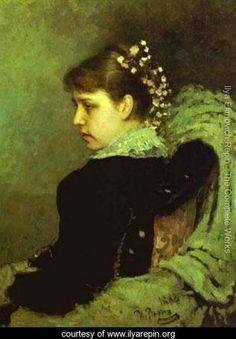 Portrait Of T A Mamontova 1882 - Ilya Efimovich Efimovich Repin - www.ilyarepin.org